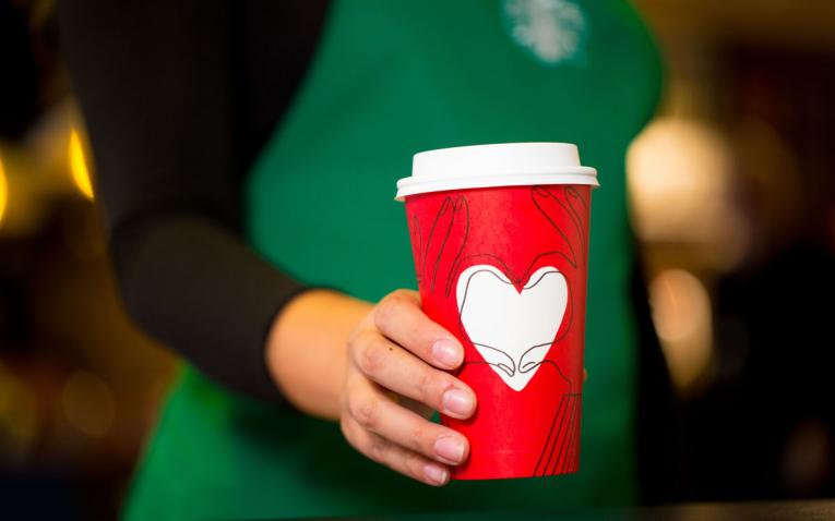 Starbucks Heart Holiday Cup.
