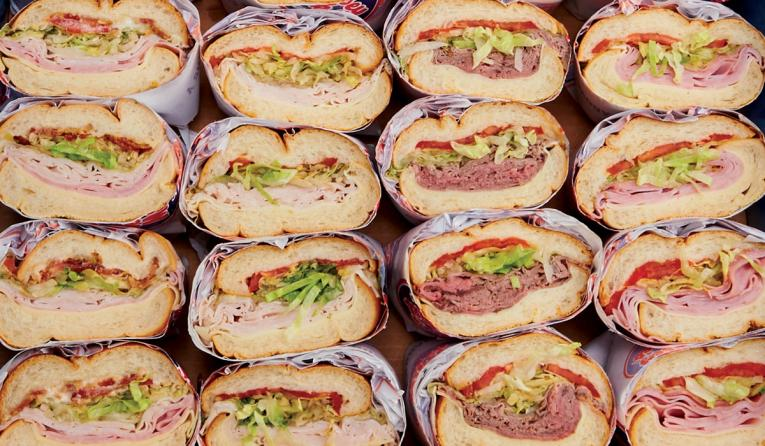 Jersey Mike's Subs, and lots of them.