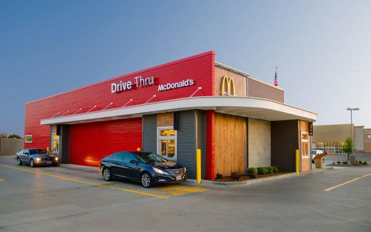 Drive thru at McDonald's.