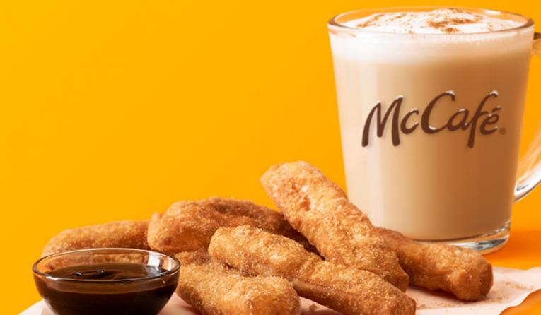 McCafé Cinnamon Cookie Latte and Donut Sticks.