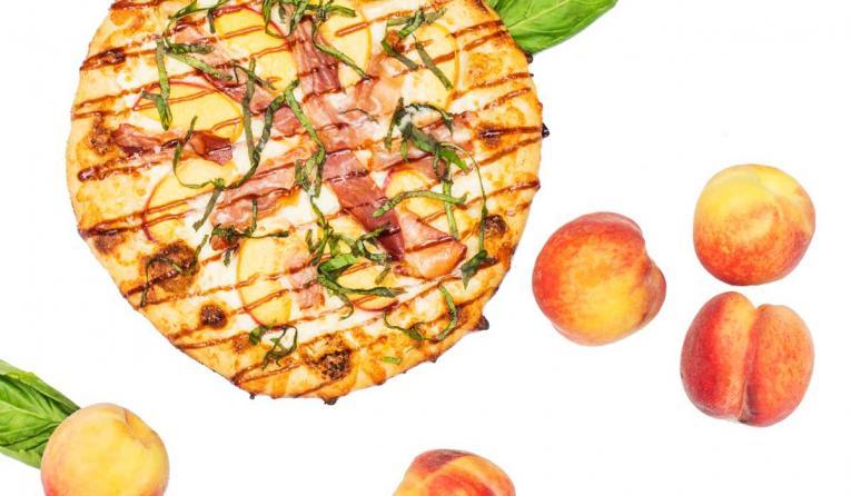 Your Pie Peach Prosciutto Pizza