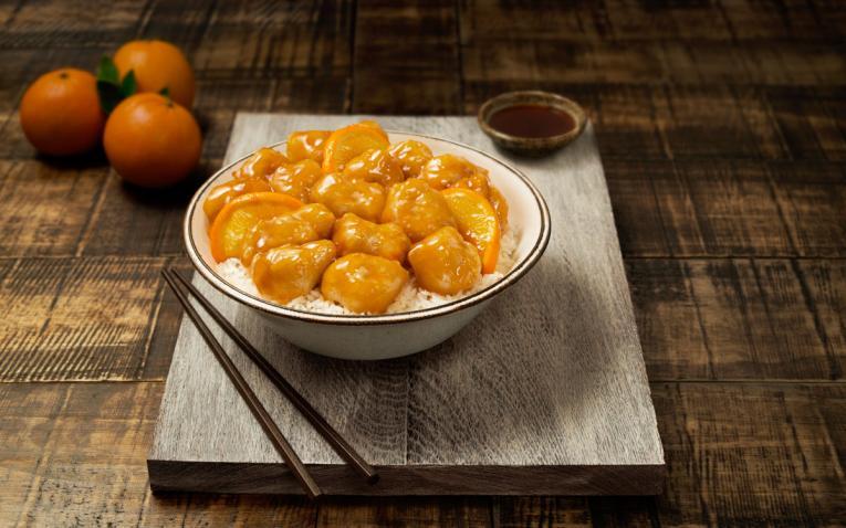 Pei Wei orange chicken.