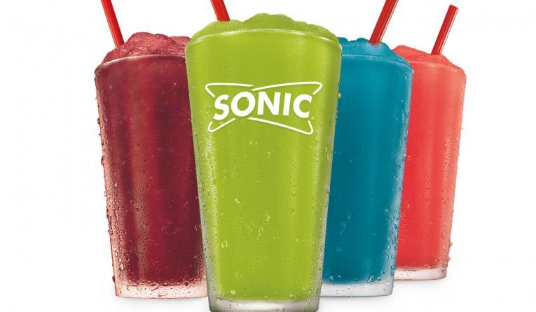 Sonic Drive-In's new line of Snow Cone Slushes.