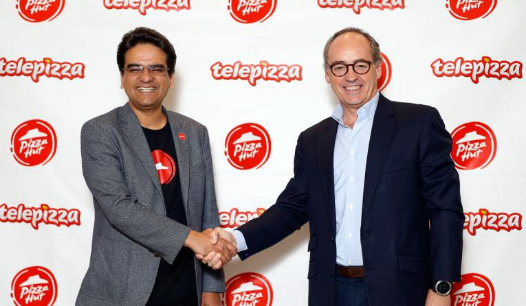 Milind Pant, President, Pizza Hut International, and Pablo Juantegui, Executive Chairman and Chief Executive Officer, Telepizza Group, announced a strategic deal.