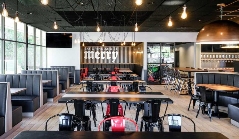 Round Table Pizza S First Redesigned Store Opens In
