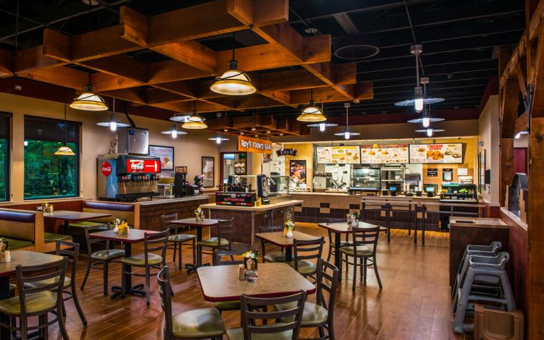 Roy Rogers interior design is recognizable for guests.