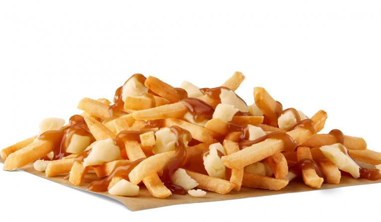 French fries with gravy at McDonald's.
