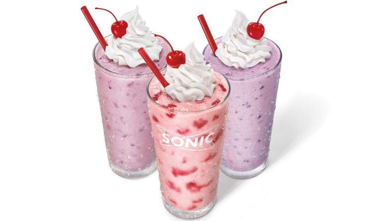 Sonic's new real frit berry shakes made with real berries.