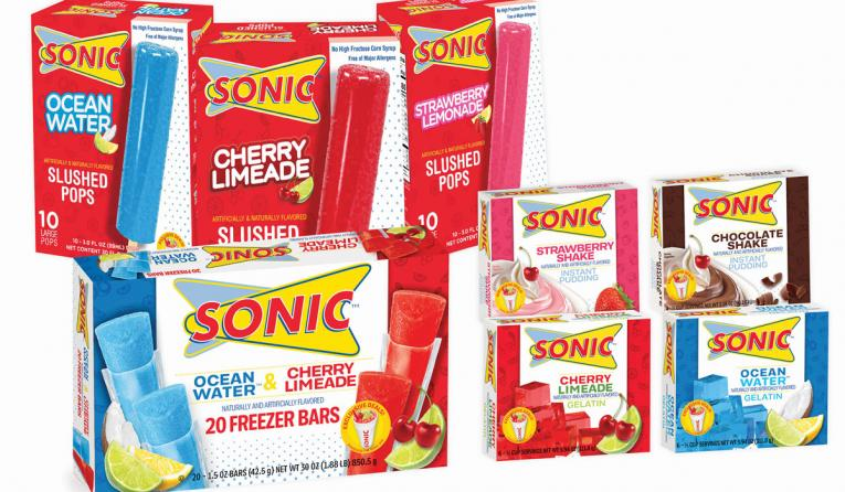 SONIC Drive-In's new Frozen Ice Pops, Gelatins and Puddings.
