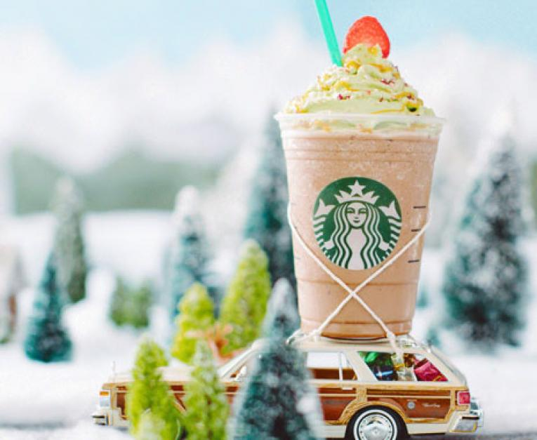 Starbucks launches a Christmas Tree Frappuccino.