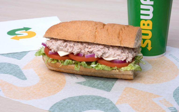 Subway tuna sub.