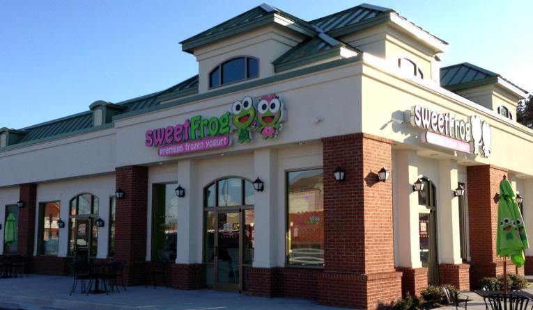 Sweetfrog restaurant location as seen from the outside.