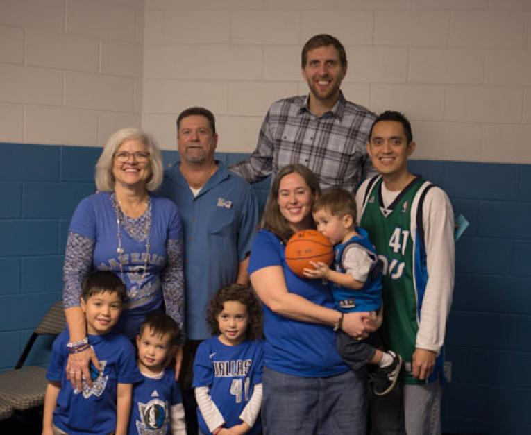 Dirk Nowitzki meets with special guests thanks to Which Wich's sweepstakes.