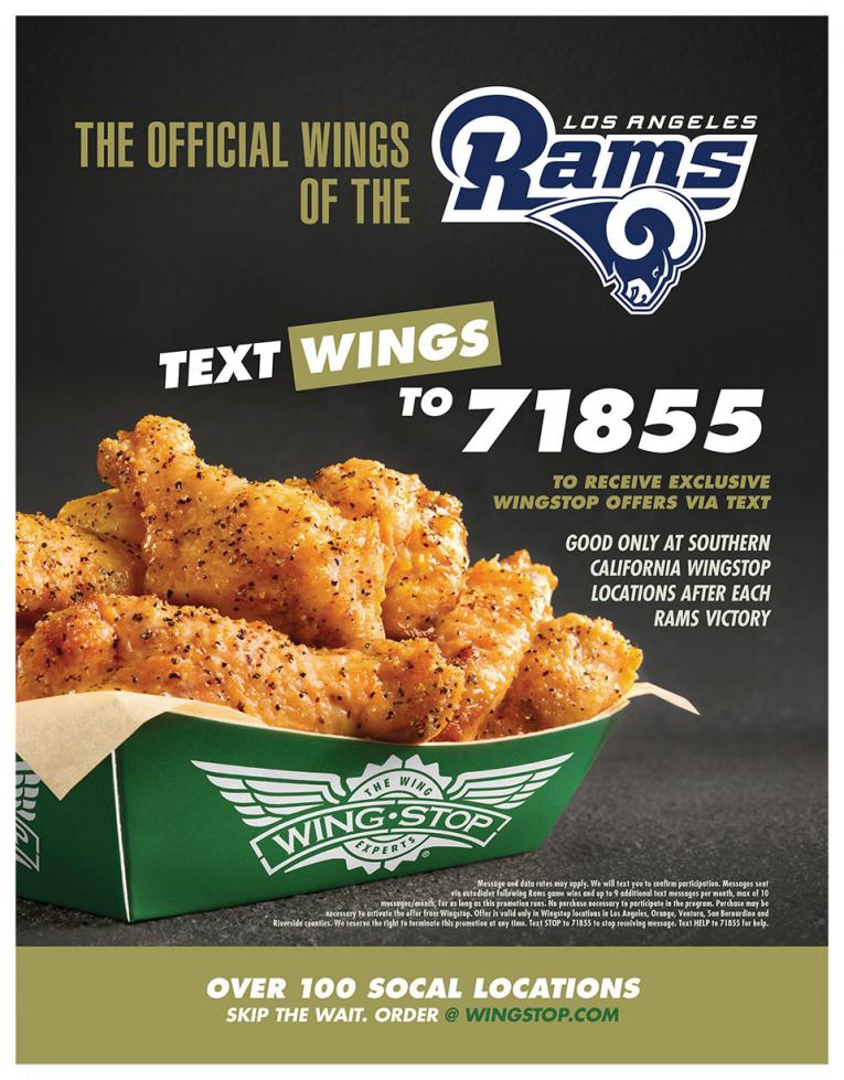 Wingstop Now The Official Wing Of The Los Angeles Rams Restaurant