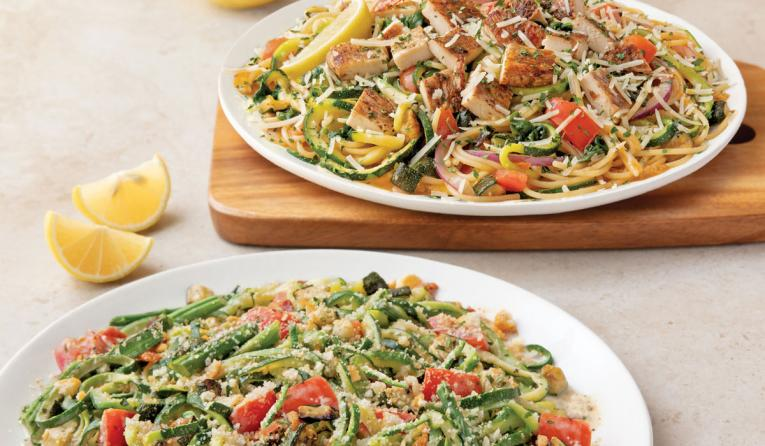 Noodles & Company's new Zoodles-based menu items.