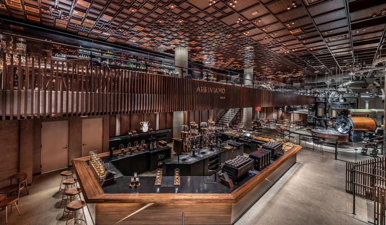 Starbucksu0027 NYC Reserve Roastery Features a 60-Foot Mixology Bar