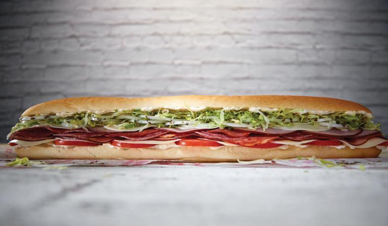 Jimmy John's 16-inch sandwich.