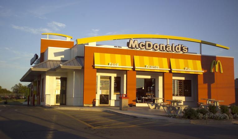 McDonald's famouse golden arches outside Broken Arrow, Oklahoma.