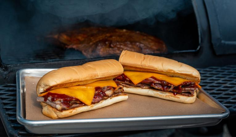 Subway's Naturally Pit-Smoked Brisket sandwich.