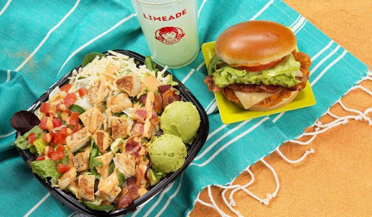 Wendy's new Southwest Avocado Chicken Salad & Sandwich.