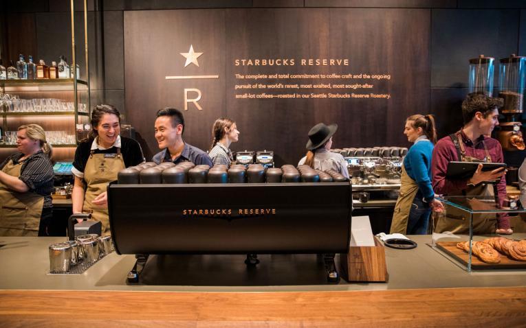 Starbucks' new premium retail store in Seattle.