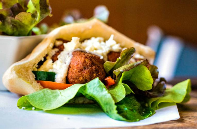 Falafel, Pita Bread, Street Food