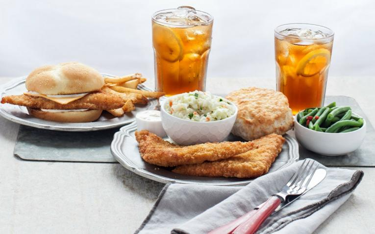 Bojangles' Bojangler Fish Sandwich and platter are show. The items return for a limited time on February 5.