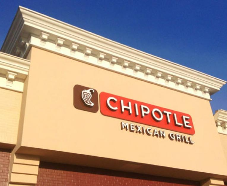 Chipotle's restaurant is seen with its iconic logo. The chain increased prices this week.