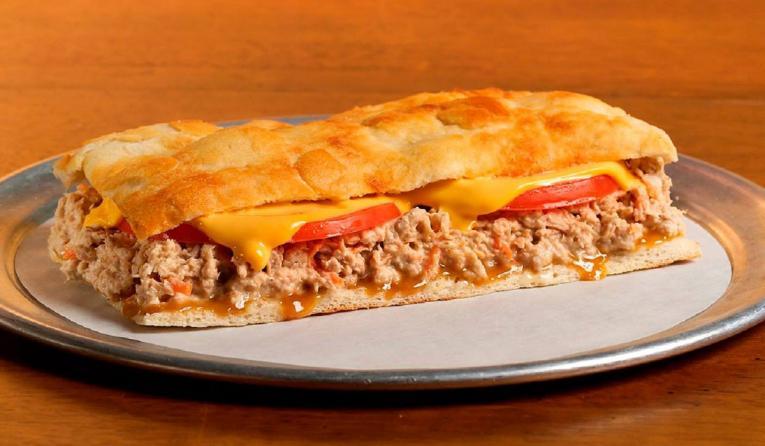 Tuna melt sandwich at Così fast casual restaurant.