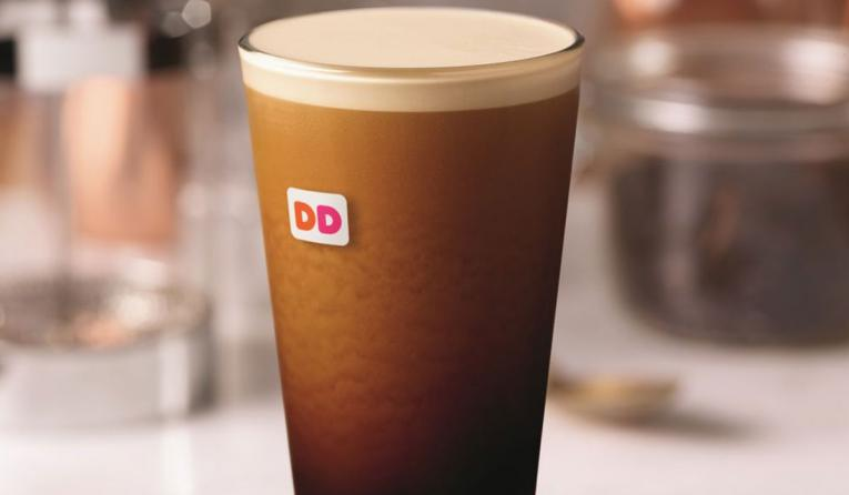 A glass of nitro coffee at Dunkin'.