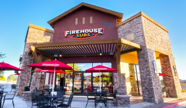 Exterior of a Firehouse Subs restaurant.