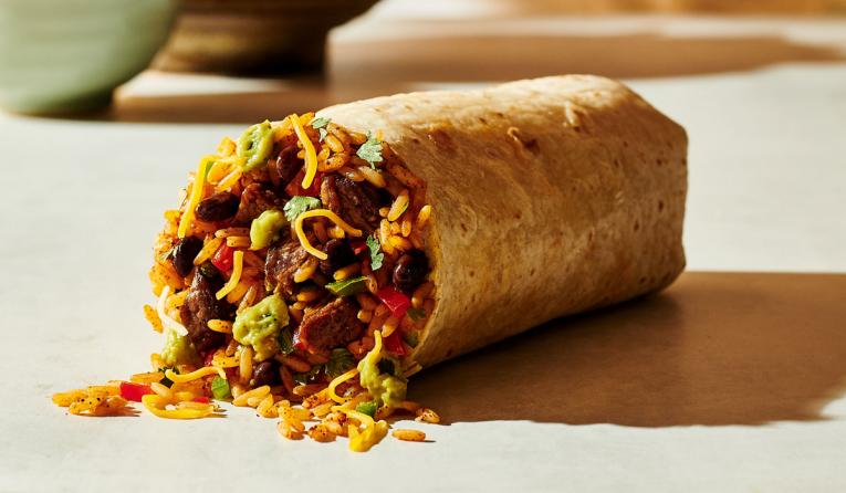 A burrito at Moe's Southwest Grill.
