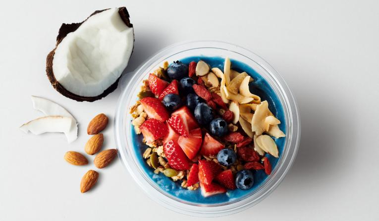 A bowl of fruit at fast casual Jamba.