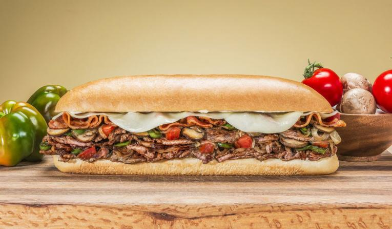 A steak sub at Jon Smith Subs fast casual restaurant.