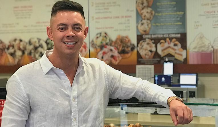 Cold Stone Creamery franchisee Kyle Welch.