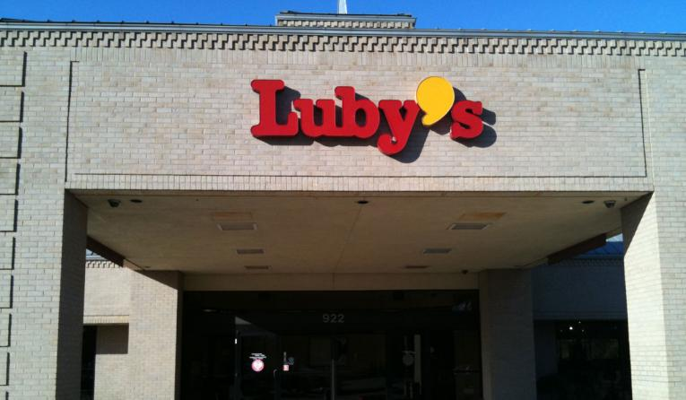 A Luby's restaurant storefront.
