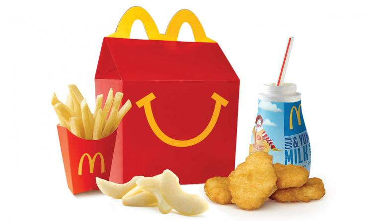 McDonald's Happy Meal with chicken nuggets.