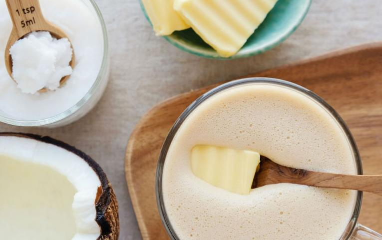Bulletproof Coffee has taken root among those who believe that downing a cup of coffee containing butter and medium-chain triglycerides like coconut oil offers an energy boost with no caffeine crash.