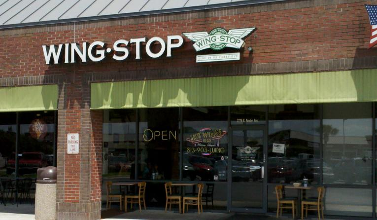 The front of Wingstop in Tampa Bay.