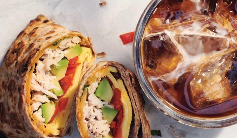 Panera Bread's new wraps and coffee.