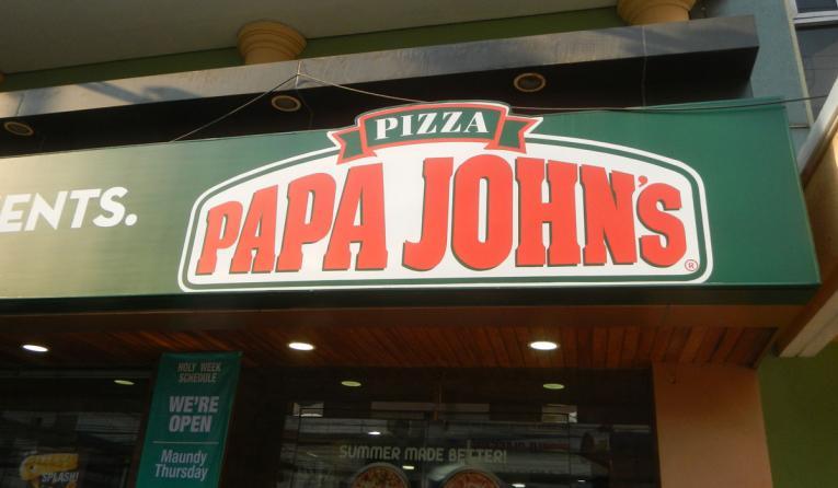 Papa John's restaurant storefront.