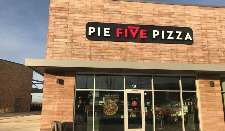 Exterior of Pie Five Pizza