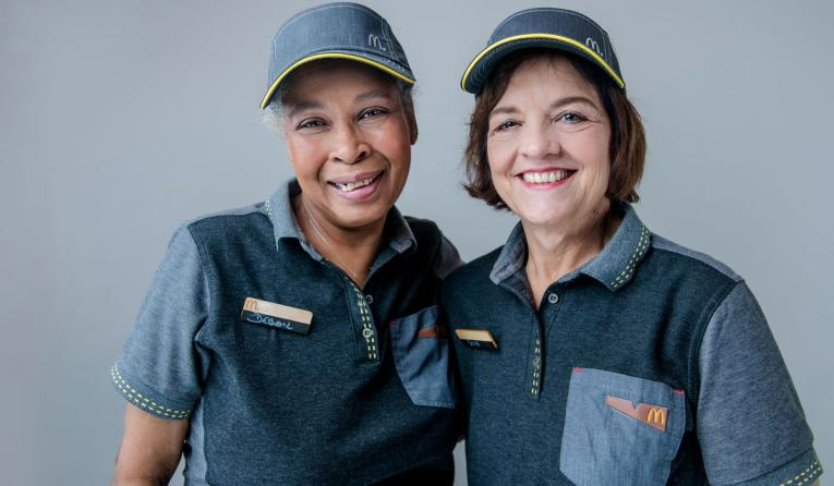 Two workers from McDonald's.