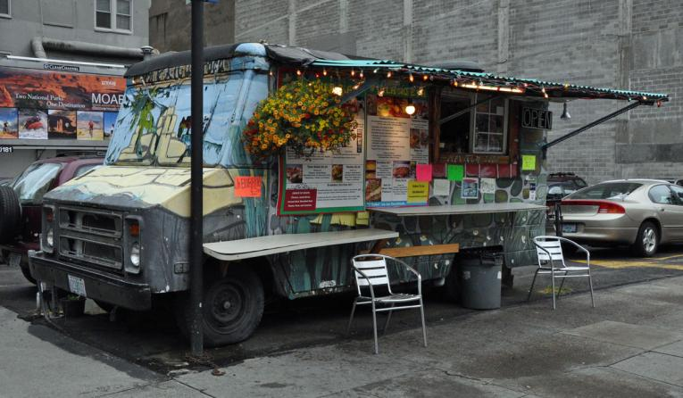 Food truck in Portland, Oregon.