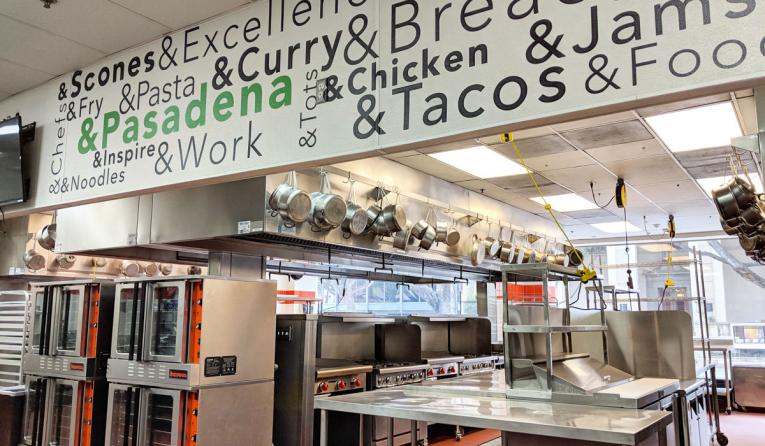 The interior of Kitchen United in Pasadena.