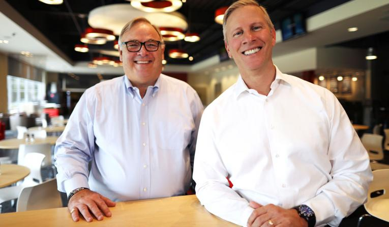 YUM! Brands CEO Greg Creed (left) will retire at the end of 2019 and will be succeeded by president and chief operating officer David Gibbs.