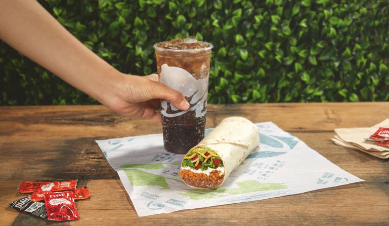 Vegetarian 7-Layer Burrito at Taco Bell.