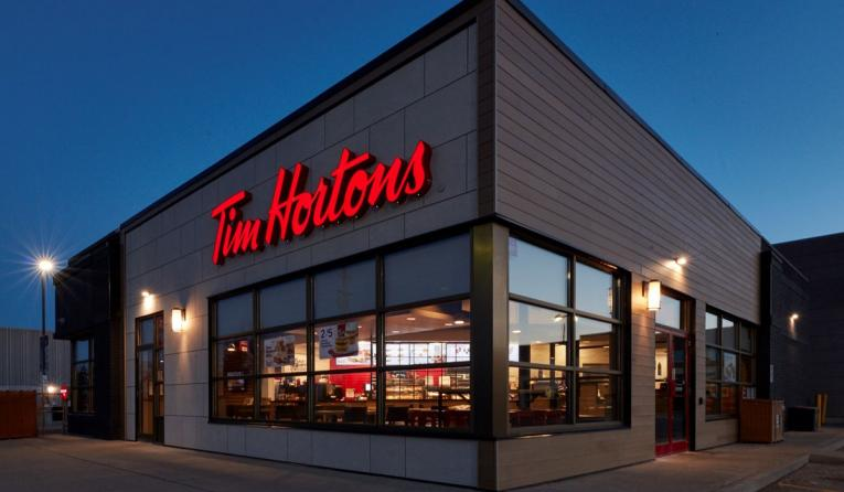 From the inside and out, the new image welcomes Tim Hortons guests with warmth before they even enter the restaurant.