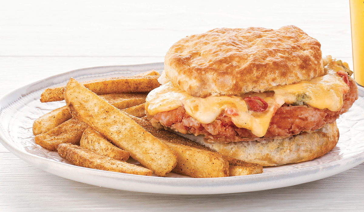 Bojangles' Cajun Filet Biscuit with Pimento Cheese