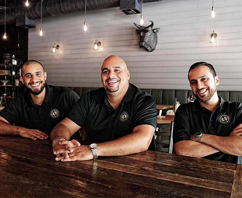 Otto Othman, Nedal Ahmad, and Nizar Ahmad, Partners, Pincho Factory